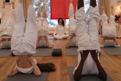 Meditation retreat - student's in yoga class