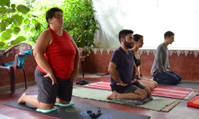Tantra Ann performing vajrasana tantra yoga teacher training