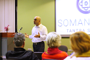 Tantra - Somananda leads a lecture on the principles of authentic Tantra