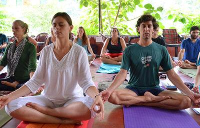 Tantra tantric meditation student's meditating meditation retreat
